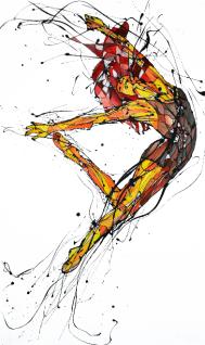 La Bailarina de las Uñas Rojas (100cm x 60 cm)